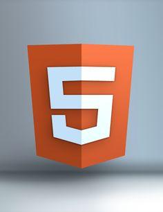 HTML 5 Shield Logo in 3D – Free PSD