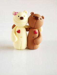 Polymer clay miniature Hart bear by natbears on Etsy