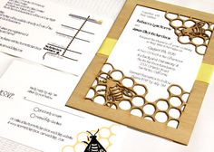 82 Best Honeybee Theme Wedding Invites Images Wedding Reception