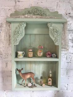 Painted Cottage Prairie Chic Hand Made Shabby Chic Shelf Cottage Shabby Chic, Shabby Chic Shelves, Shabby Chic Vintage, Shabby Chic Stil, Shabby Chic Farmhouse, Shabby Chic Interiors, Shabby Chic Bedrooms, Shabby Chic Kitchen, Shabby Chic Homes