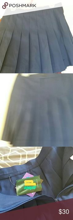 "NWT Tennis skirt pleated Navy dark blue pleated skirt 16 1/2 ""length and 32"" waist Prince Skirts A-Line or Full"