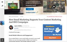 How Email Marketing Supports Your Content Marketing And SEO Campaigns Email Marketing, Content Marketing, Responsive Email, Twitter Tips, Little Black Books, Email Design, Promote Your Business, Find A Job, Business Website