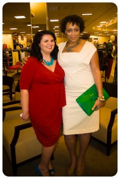 Thank you to @hemsforher & @ericabunker for attending the Belk Fall Fashion Tour in Birmingham - love both those dresses!