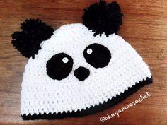 gorrito de oso panda a crochet panda bear hat