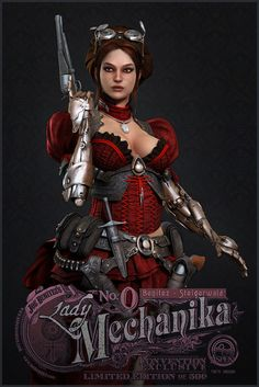 Lady Mechanika, Oleg Aleinikov on ArtStation at… Arte Steampunk, Steampunk Book, Steampunk Artwork, Steampunk Fashion, Gothic Fashion, Women's Fashion, Lady Mechanika, Fawn Colour, Bd Comics