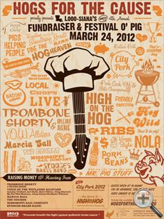 Hogs for the Cause,   Great Nola event  buy tickets in advance and credit team  Swine n Cheese