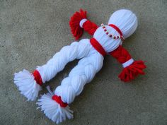 Items similar to Chango Spirit Doll / Yarn Poppet / Voodoo Doll on Etsy Crochet Angels, Crochet Bebe, Crochet Gifts, Crochet Christmas Ornaments, Easy Christmas Crafts, Christmas Angels, Yarn Crafts, Diy And Crafts, Crafts For Kids