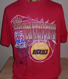 FREE Shipping vintage 1995 Houston Rockets basketball t shirt size XL by vintagerhino247 on Etsy