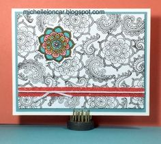 Show and Tell, with Michelle: Color Dare #203 ~ Sorbet, Canary, Crystal Blue with White Daisy