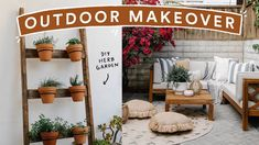 Diy Herb Garden, Lawn And Garden, Outdoor Spaces, Outdoor Living, Patio Makeover, Space Interiors, Outdoor Projects, Interior And Exterior, Ladder Decor