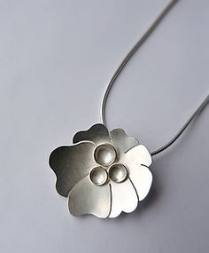 Botanical Pendant Number One by Moira K. Lime: Silver Necklace available at www.artfulhome.com
