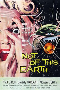 Not of This Earth.   1957 http://www.vintagevenus.com.au/vintage/reprints/info/CP153.htm