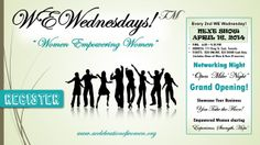 WeWEDNESDAYS occurs bi-weekly - If you are a woman in the Toronto area who owns, or who is thinking of owning their own business, this is the place to be! Contact me or Visit www.wewednesdays.com for more details.