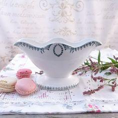 Francuska, porcelanowa sosjerka - atelier-Brocante - Sosjerki i wazy