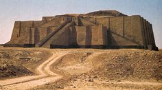 SUMERIAN ART: Ziggurat of King Urnammu c. 2500 B.C. Taller and more tower like ziggurats - has 3 levels. Sun-baked bricks glazed with different colors. Temple located on top of the city. All activities take place on varying levels (law, trading, economics). Reflect widespread belief that mountaintops are the dwelling places of gods. Felt they could provide a residence for a deity by creating their own artificial mountains.  LOCATION: UR, IRAQ