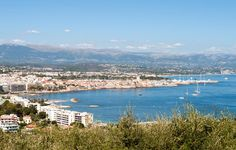 Views out over Antibes and the Cote d'Azur
