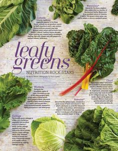 Leafy Greens - Food & Nutrition Magazine - March/April 2014 - Page 22-23