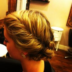 Fish tail hair up at rapture hair and beauty Plymouth
