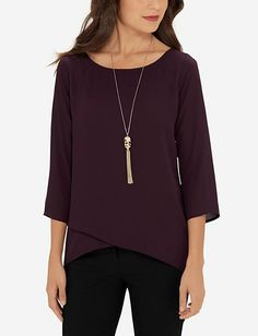 Silky Layered Blouse from TheLimited.com