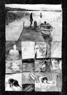 """oncealoyallover: """" By Ward Zwart """" Gravure Illustration, Pencil Illustration, Graphic Illustration, Jorge Gonzalez, Bd Art, Art Zine, Graphic Novel Art, Storyboard, Sketchbook Inspiration"""