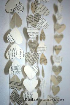 Bulk Vintage Paper Hearts