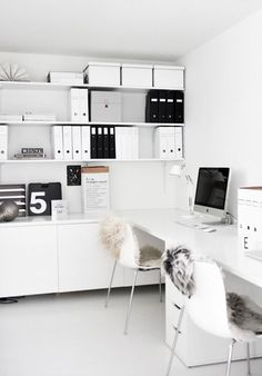 Home office decor is a very important thing that you have to make percfectly in your house. You need to make your home office decor ideas become a very awe Home Office Space, Office Workspace, Home Office Design, Home Office Decor, House Design, Office Spaces, Workspace Design, Office Designs, Small Office