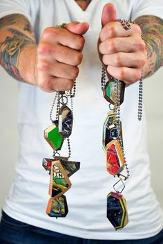 Tara Locklear  In this series the artist is repurposing broken skateboards and turning them into artful adornment