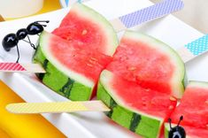 Cute idea! Serve watermelon like this at your next party or bbq! Via Kara's Party Ideas KarasPartyIdeas.com
