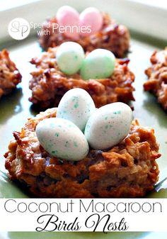 Coconut Macaroon Bird's Nest Cookies Recipe