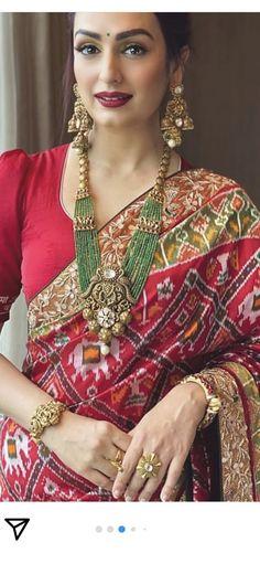 Bridal Jewellery Inspiration, Bridal Jewelry, Wedding Saree Blouse Designs, Simple Sarees, Kurti Neck Designs, Indian Jewellery Design, Chiffon Saree, Indian Designer Outfits, Stylish Jewelry