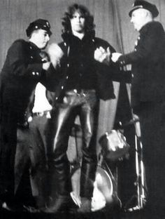 Jim Morrison getting arrested in New Haven , Connecticut. Before the concert a…