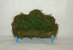 On Sale Now Moss Fairy Couch Miniature by BlueStarEmporium on Etsy, $6.00