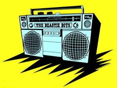 SD7233-The-Beastie-Boys-Gheto-Blaster-Boombox-Art-Music-24x18-Print-POSTER