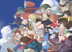 Tags: Anime, Gake no Ue no Ponyo, Mononoke Hime, Howl's Moving Castle, My Neighbor Totoro