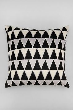 Magical Thinking Embroidered Triangle Pillow