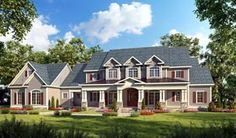 Country Craftsman Farmhouse Southern Traditional House Plan 58272 Elevation