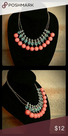 Pink Statement Necklace Lightly Used, Slight Crazing On Beads Rue 21 Jewelry Necklaces