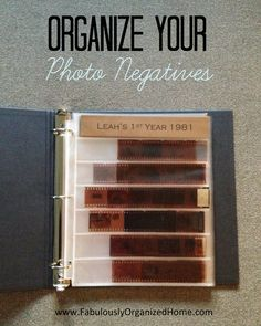 Organizing Your Photo Negatives