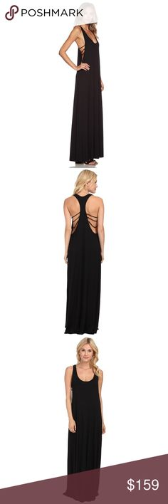Rachel Pally Griffin racerback maxi dress black XS Selling this lovely Rachel Pally 'Griffin' jersey racerback maxi dress, size XS. New without tags, never worn. This dress features a scoop neckline and sexy openings at the sides, creating a beautiful rib-like design at the back. Roomy, oversized fit and such a soft, comfy fabric Ms. Pally is known for! Rachel Pally Dresses Maxi