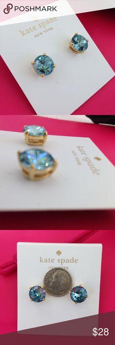 BACK Kate Spade GraceBlue Stud w Dust & Shop Bag Back in! Kate Spade Grace Blue earrings studs with dust bag and shopping/gift bag. Beautiful blue! kate spade Jewelry Earrings