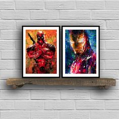Deadpool Marvel Super Hero Movie Framed CANVAS ART PRINT