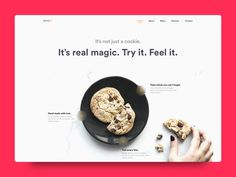 Daily UI Challenge: Day 91 Website for cookie