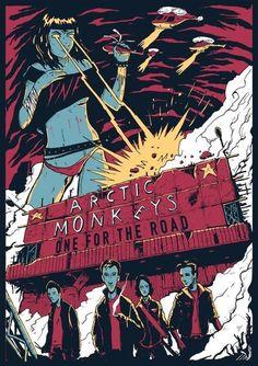 Arctic Monkeys Poster, Arctic Monkeys Wallpaper, Monkey Wallpaper, Arctic Monkeys Tattoo, Poster It, Poster Prints, Illustration Photo, Rock Band Posters, Monkey Art