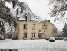 Chateau in France Tan stucco French Country House facade. Wish list for a French style home French Cottage, French Country House, French Country Decorating, Country Homes, Country Estate, French Decor, French Country Exterior, French Style Homes, French Architecture