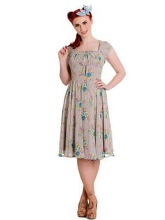 1950s Inspired Chiffon Dress