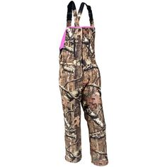 Pink trimmed hunting bibs... would match my coveralls, guncase and backpack!