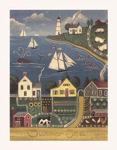 Charming CAPE COD PRINT   Summer Sea in the by SeaGardenCottage, $14.00