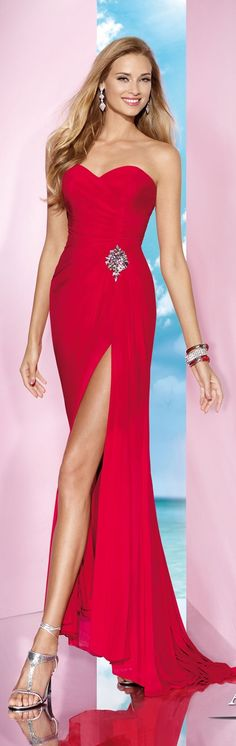 Red Evening #Gown by Alyce