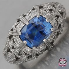 I've a Ceylon sapphire that looks very similar to this one.  Now if I could only afford this setting for it!