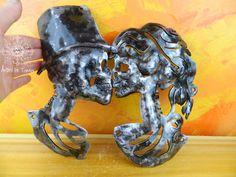 Santa Muerte,forge,tête,mort,toillette,bar,halloween,steampunk,artiste les tordus,cadeau,noce de fer,sculpture,restaurant